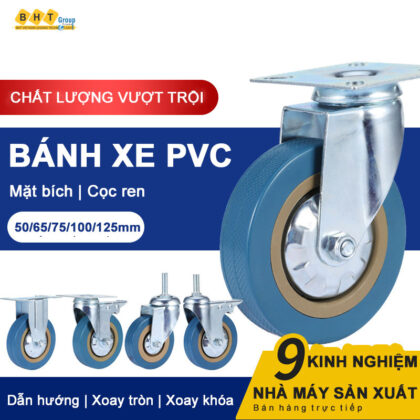 Banh-xe-pvc-xanh-bien-cang-thep-mat-bich-bxpvc-001bhtvn